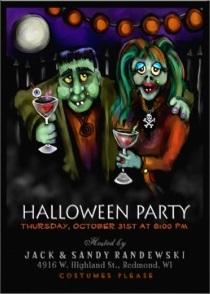 Frankenstein Halloween Party Invite