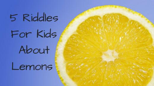 Lemon Riddles For Kids
