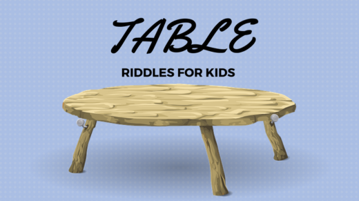 Table Riddles For Kids