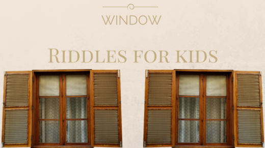 Window Riddles For Kids