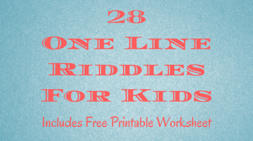 28 One Line Riddles For Kids