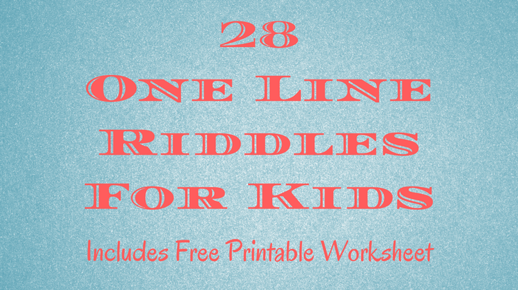 photo relating to Riddles for Kids Printable known as 28 1 Line Riddles For Little ones